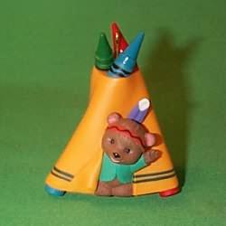 1995 Crayola #7 - Teepee Hallmark Ornament