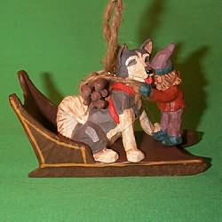 1995 Fetching The Firewood Hallmark Ornament