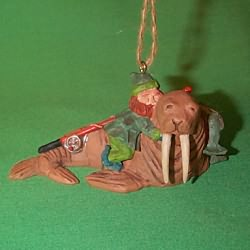 1995 Fishing Party Hallmark Ornament