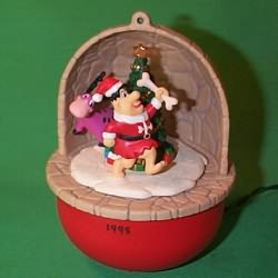 1995 Fred And Dino - Lighted Hallmark Ornament