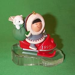 1995 Frosty Friends #16 - Snowmobile - NB Hallmark Ornament