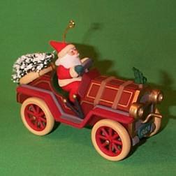 1995 Here Comes Santa #17 - Roadster Hallmark Ornament