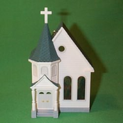 1995 Nostalgic Houses #12 - Town Church Hallmark Ornament