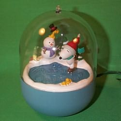 1995 Peanuts Lighted #5f Hallmark Ornament