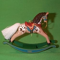 1995 Rocking Horse #15 - NB Hallmark Ornament
