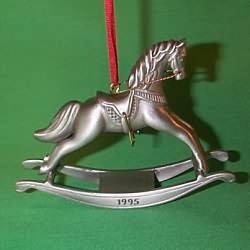 1995 Rocking Horse Anniversary - Pewter Hallmark Ornament