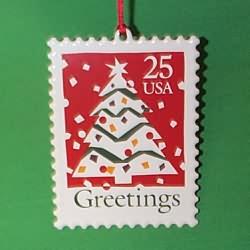 1995 U.s. Christmas Stamp #3f Hallmark Ornament