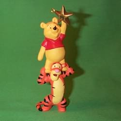 1995 Winnie The Pooh With Tigger Hallmark Ornament