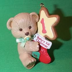 1996 Baby's 1st Christmas - Bear Hallmark Ornament