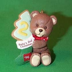 1996 Baby's 2nd Christmas - Bear Hallmark Ornament