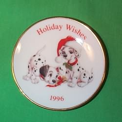 1996 Disney - 101 Dalmation Plate Hallmark Ornament