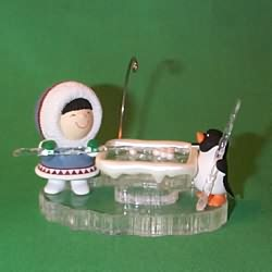 1996 Frosty Friends 17 - Playing Pool - NB Hallmark Ornament