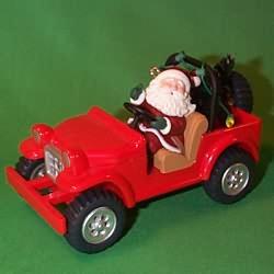 1996 Here Comes Santa #18 - 4 X 4 - SDB Hallmark Ornament