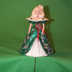 1996 Holiday Barbie Green - Stocking Hanger Hallmark Ornament