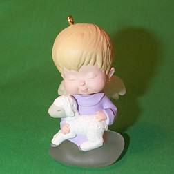 1996 Mary's Angels #9 - Violet - NB Hallmark Ornament