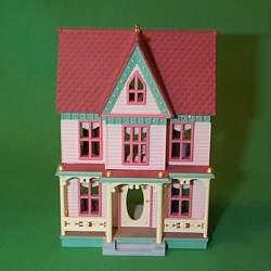 1996 Nostalgic Houses #13 - Pink Lady - DB Hallmark Ornament