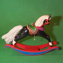 1996 Rocking Horse #16f Hallmark Ornament
