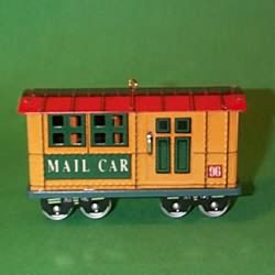 1996 Yuletide Central #3 - Mail Car Hallmark Ornament
