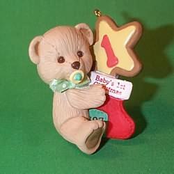 1997 Baby's 1st Christmas - Bear Hallmark Ornament