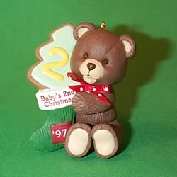 1997 Baby's 2nd Christmas - Bear Hallmark Ornament