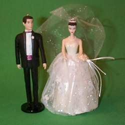 1997 Barbie And Ken - Debut Wedding Hallmark Ornament