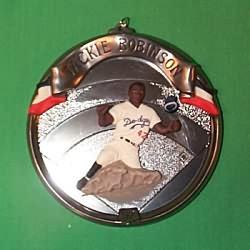 1997 Baseball Heroes #4f - Jackie Robinson Hallmark Ornament