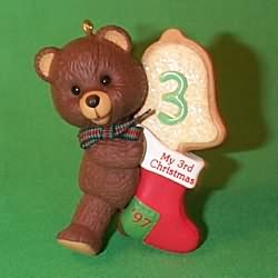 1997 Child's 3rd Christmas - Bear Hallmark Ornament