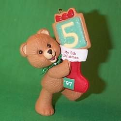 1997 Child's 5th Christmas - Bear Hallmark Ornament