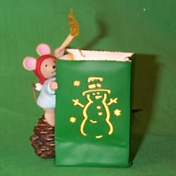 1997 Chris Mouse #13f - Luminaria Hallmark Ornament