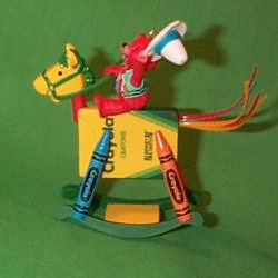 1997 Crayola #9 - Rocking Horse Hallmark Ornament