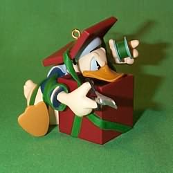 1997 Disney - Donald's Gift #1 Hallmark Ornament