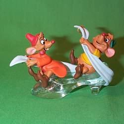 1997 Disney - Gus And Jaq Hallmark Ornament