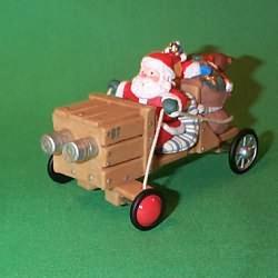 1997 Here Comes Santa #19 - Soap Box Derby Car Hallmark Ornament