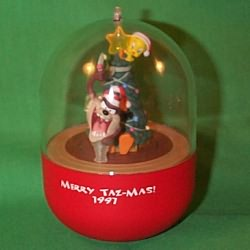 1997 Lt - Decorator Taz Hallmark Ornament