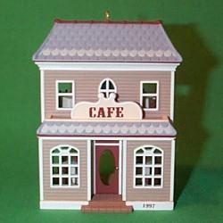 1997 Nostalgic Houses #14 - Cafe Hallmark Ornament