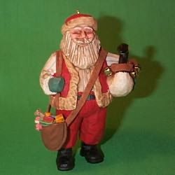 1997 Santa's Merry Path Hallmark Ornament