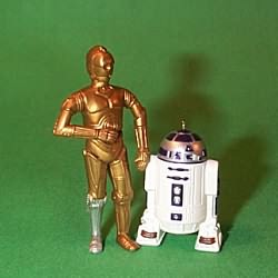 1997 Star Wars - C-3po And R2-d2 - Mini Hallmark Ornament
