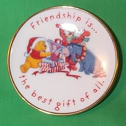 1997 Winnie The Pooh Plate Hallmark Ornament
