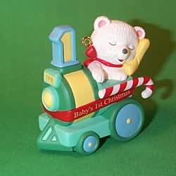 1998 Baby's 1st Christmas - Bear Hallmark Ornament
