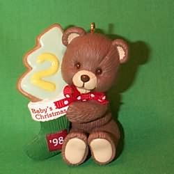 1998 Baby's 2nd  Christmas - Bear Hallmark Ornament