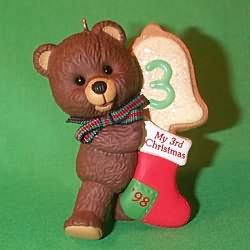 1998 Child's 3rd Christmas - Bear Hallmark Ornament