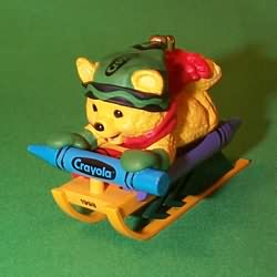 1998 Crayola #10f - Sledding Hallmark Ornament