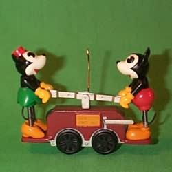 1998 Disney - Handcar Hallmark Ornament