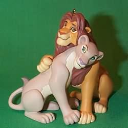 1998 Disney - Simba And Nala Hallmark Ornament