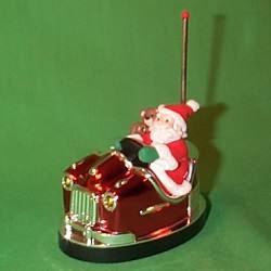 1998 Here Comes Santa #20 - Bumper Car Hallmark Ornament