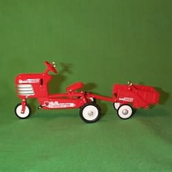 1998 Kiddie Car Classic #5 - Tractor And Trailer Hallmark Ornament