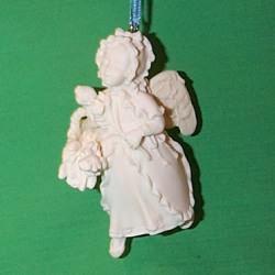1998 Language Of Flowers #3 - Iris Angel - White - NB Hallmark Ornament