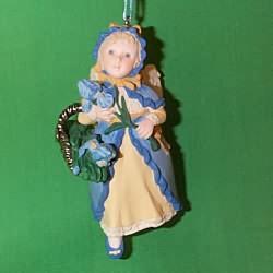 1998 Language Of Flowers #3 - Iris Angel Hallmark Ornament
