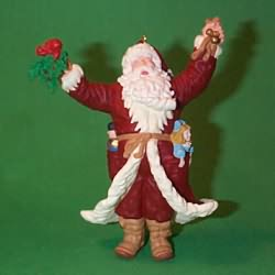1998 Merry Olde Santa #9 - Artist Signed Hallmark Ornament