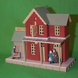 1998 Nostalgic Houses - Anniv  Halls Station Hallmark Ornament